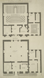 Plan of the principal story of the Society's House & of the Secretary's House adjoining